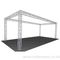 Exhibition lighting gantry system