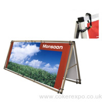 Monsoon plus outdoor banner display frame.