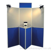 Premium seven fold display stand various colours. 2 sizes