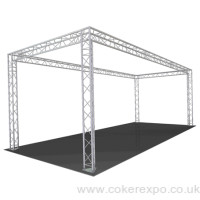 Exhibition lighting gantry for events
