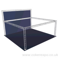 Freestanding lighting truss 6x6 metres with upstand