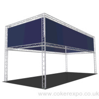 Gantry lighting stand 4 Metres high 4 x 9 Metres exhibition stand