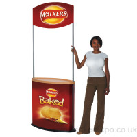 Stand alone promotion stand set up
