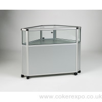 Alpha glass corner cabinet EAG024