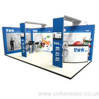 Vector kit 8 modular exhibition stand with two support arches