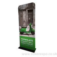 Formulate fabric display stand