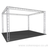 Square exhibition stand Gantry S35