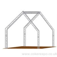 Lighting truss house design