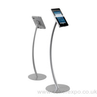 Curved ipad display stand