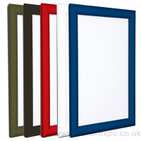 Poster frames coloured snap fit A1-A5