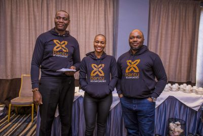L - R Obi Ezenwugo from Business Development & Marketing, Victory Emeh from the Brand & Community Engagement team, and Thomas Enechi from the Finance & Accounting team.