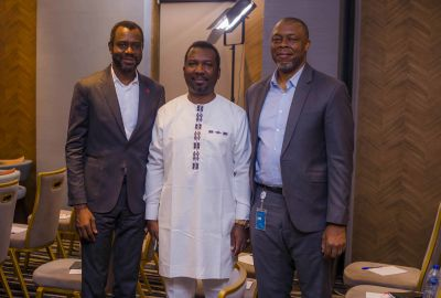 When the elders gather. (L-R Abubakar Suleiman, Ernest Mbenkum, Mike Ogbalu III)