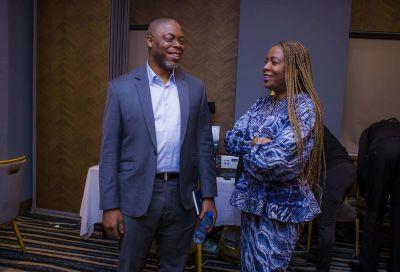 Advisors chitchat (L - Mike Ogbalu, R - Ada Irikefe Associate Director & Head of Disruption at PwC Nigeria).