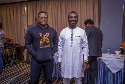 Meet the onsite executives. L - Fritz Ekwoge and R - Ernest Mbenkum.