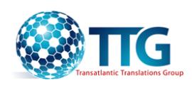 TTGroup Transatlantic Translations / Transatlantic Translations Group / Matthew Peterson  logo