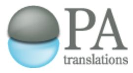 Pro-Active Translations (PA Translations, Inc), Biomedical Specialist logo