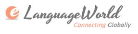eLanguageWorld logo