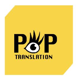 alexandre morelli / L'oeil pop / Pop Translation logo