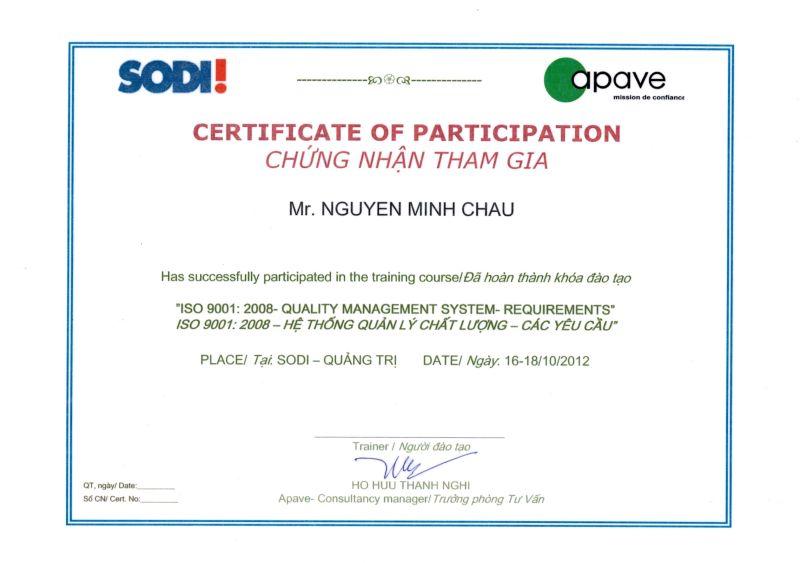 ISO 2008 - QMS