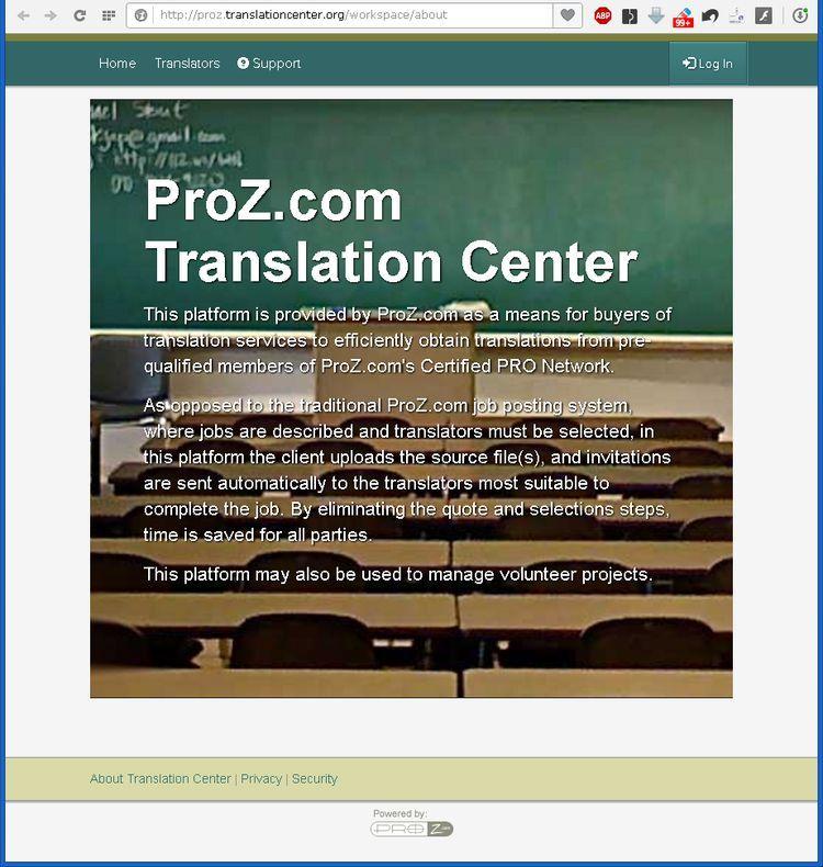 proz translation center dot org