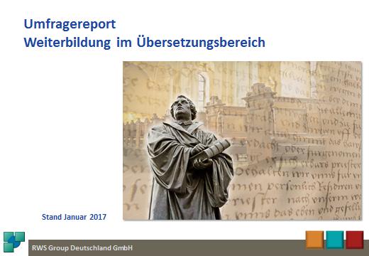 Umfragereport Weiterbildung im Übersetzungsbereich