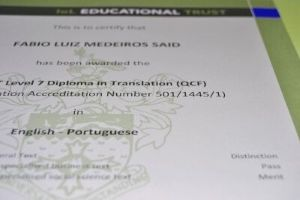 DipTrans Diploma in Translation English Portuguese