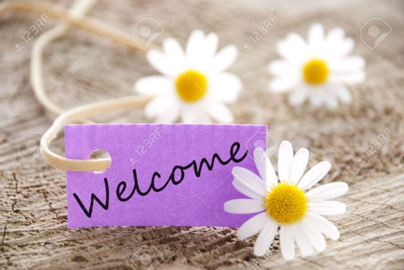 20108442-a-purple-banner-with-welcome-on-it-and-flowers-in-the-background-Stock-Photo
