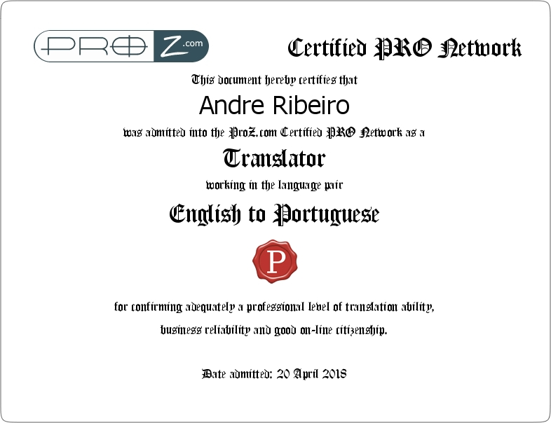 Brazilian Portuguese Into English Translation And Proofreading Specialising In Technical Translation Human Resources Hr Corporate And Administrative Materials And Journalism Texts