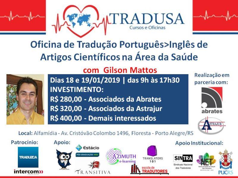 Workshop on Portuguese>English Translation of Scientific