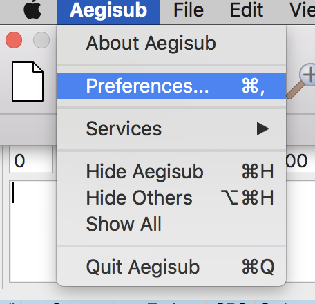 Mac version of Aegisub - missing functions? (Subtitling)