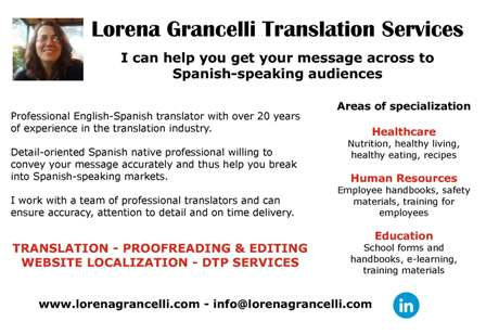 English to Spanish translator specializing in healthcare