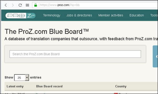 blue board search