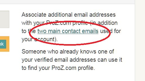 Two main contact emails