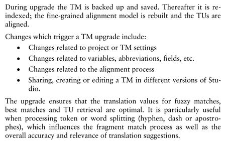 upgrade trados tms