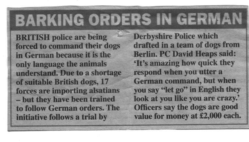 barking orders