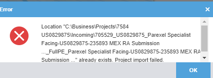 already existing project