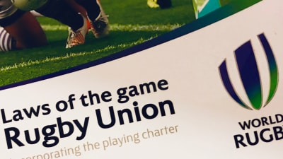 Front cover of the RFU Laws book