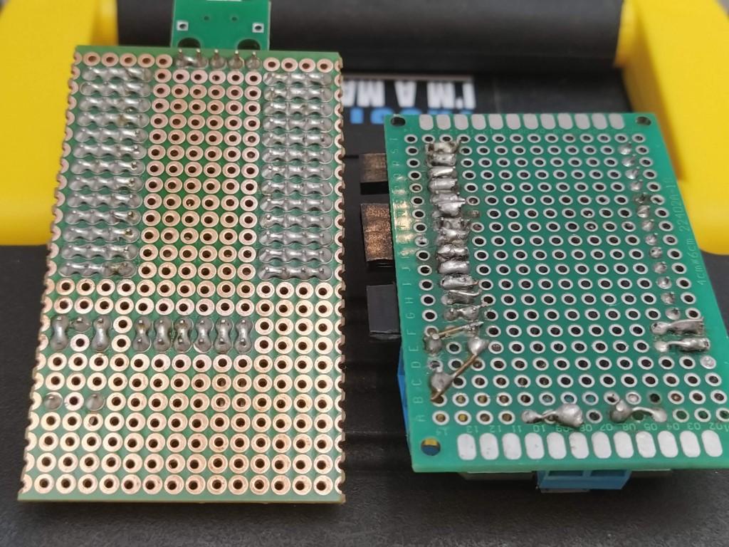 Underside of some dev boards