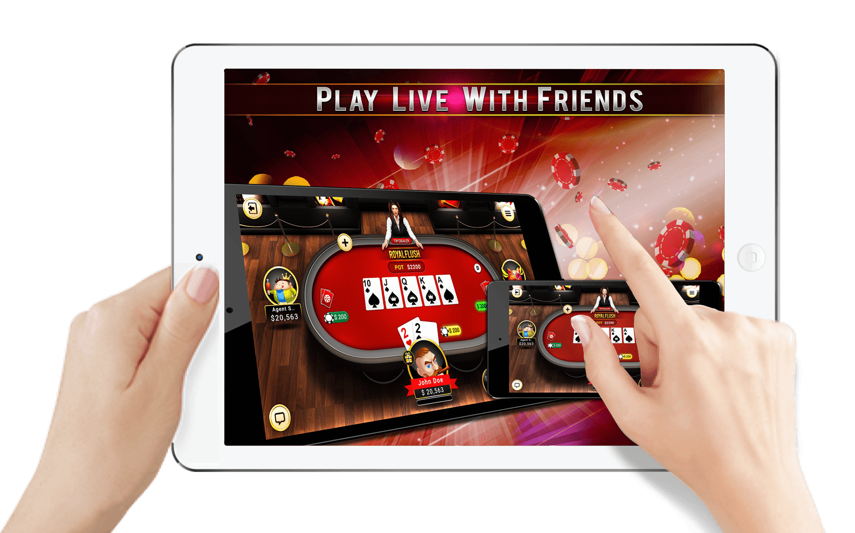 Fast, fun and free to play Poker game on your mobile