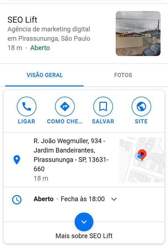 Google meu negócio mobile - 5D Publicidade