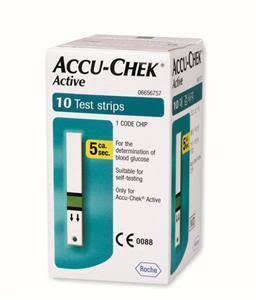 Accuchek Active Sugar Test Strips 10's
