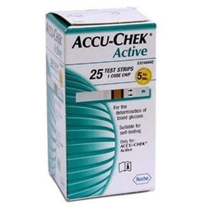 Accuchek Active Sugar Test Strips 25's