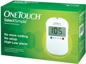 One Touch Select Simple Sugar Test Kit