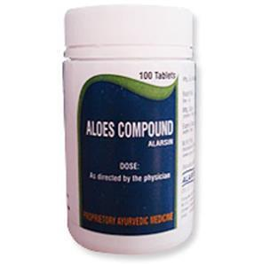 Aloes Compound 100's container
