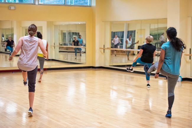 cardio dance mix fitness class PMRC
