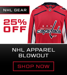 25% Off NHL Apparel