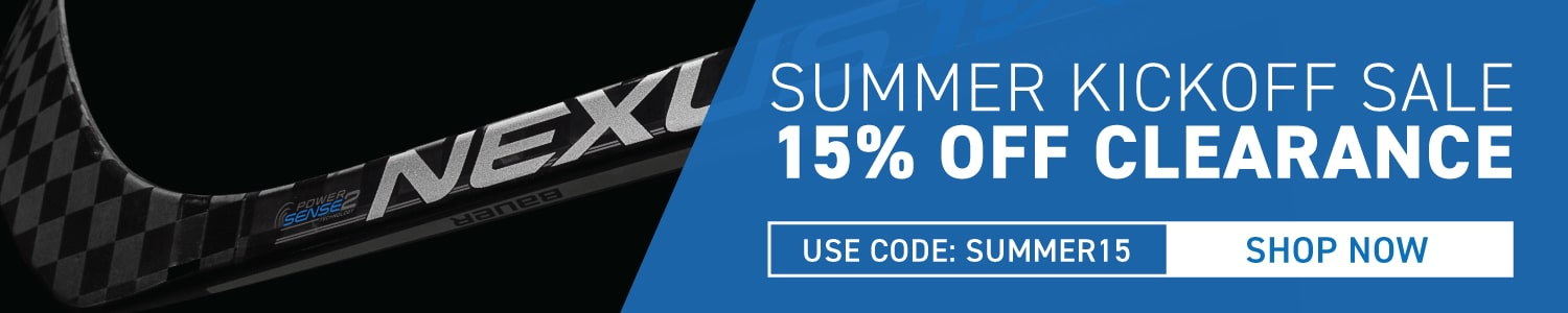 Extra 15% Off All Clearance Hockey Equipment