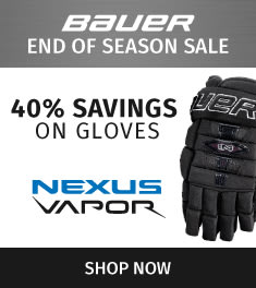 Bauer Nexus & Vapor Glove Sale! Savings up to 40%!