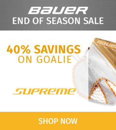 Bauer Supreme Goalie Equipment Sale!