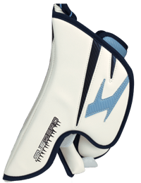 side hand protection for a goalie blocker